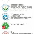 Camino a pellet Giotto ventilazione frontale - 10 kw